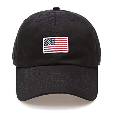 mens low profile baseball caps fitted cap amazon flag embroidered cotton adjustable strap hat black