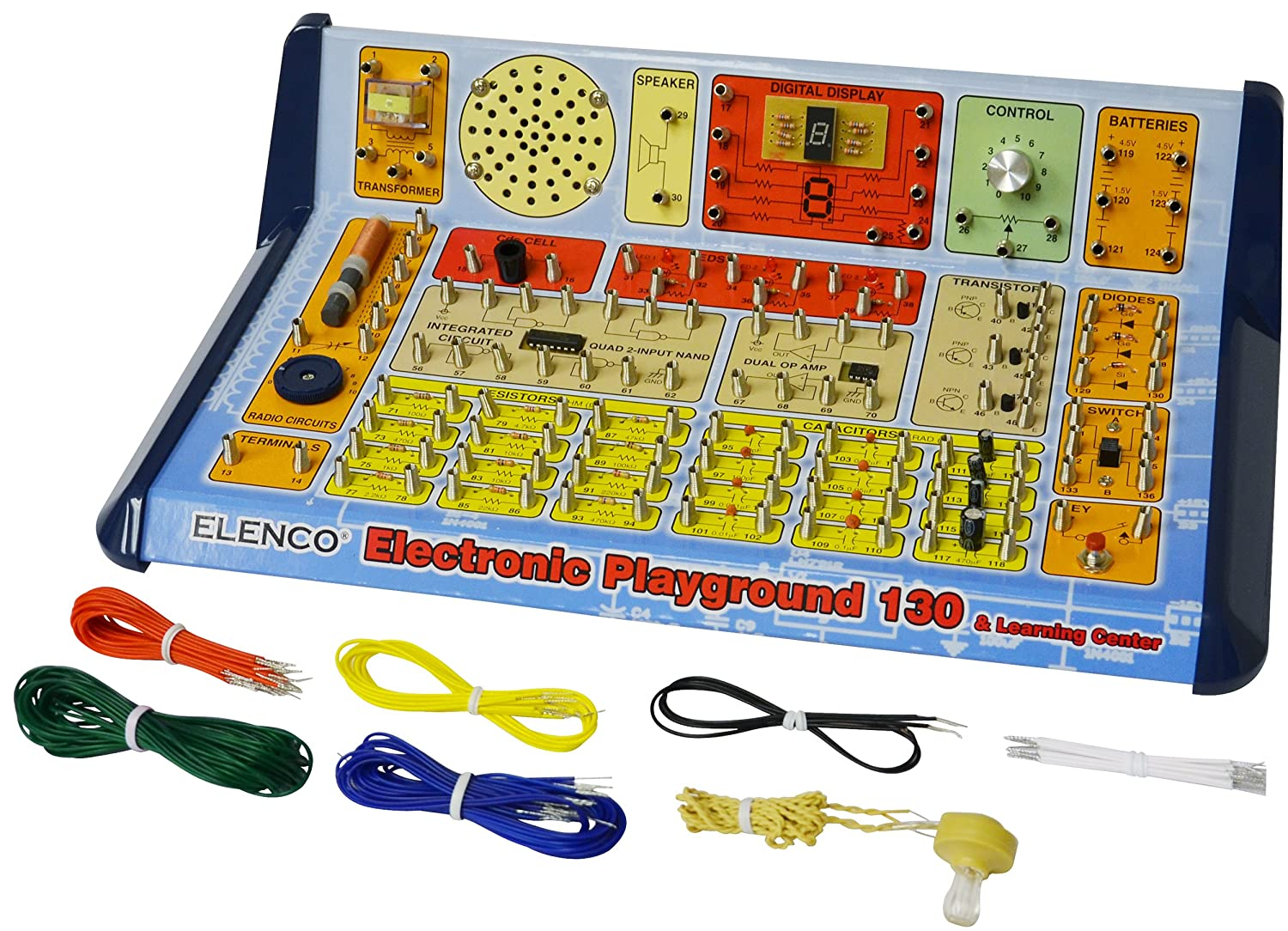 Elenco 130 In 1 Electronic Playground And Learning Center Ep Related Circuits Principles Of Circuit Controlled Fishing Electronics Kits Amazon Canada