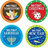 Pearhead Baby First Year Holiday Milestone Belly Stickers