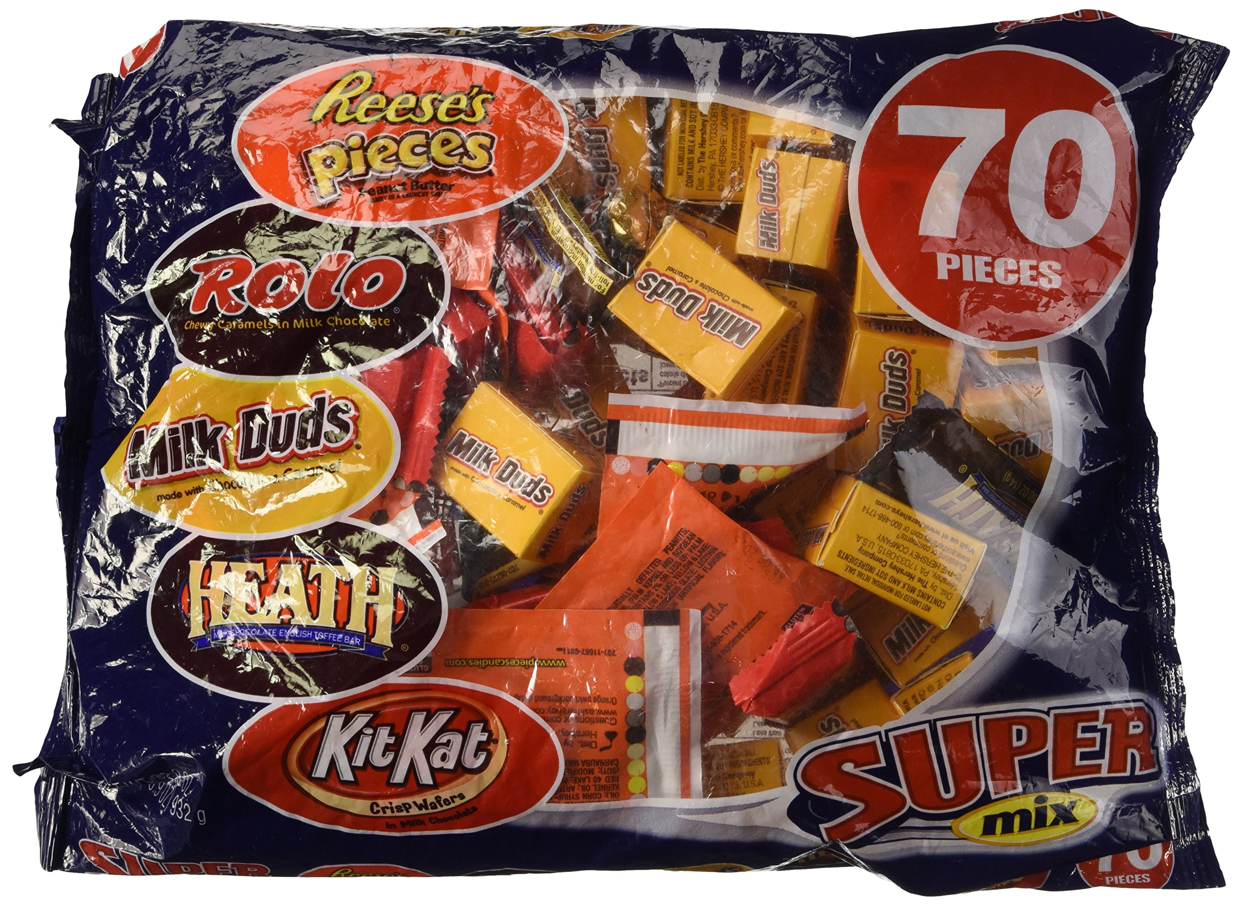 Hershey's Super Mix Assortment, 70-Piece Bag, 32.9-Oucne Bag