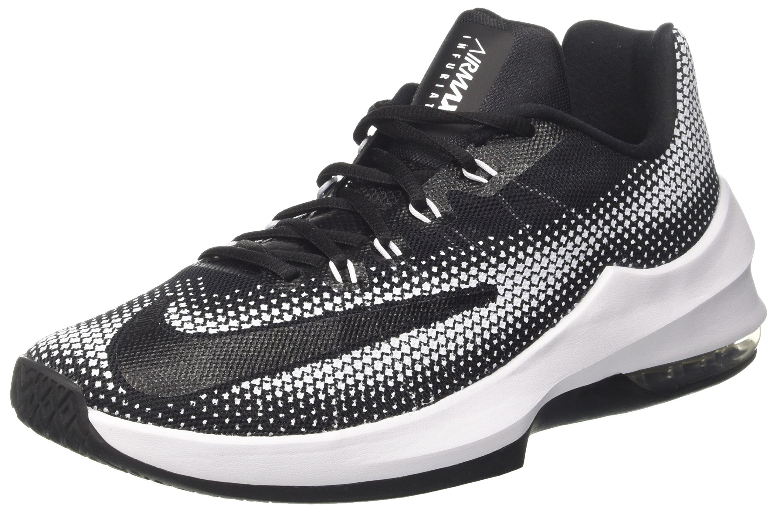 wholesale dealer a53ab daac9 Galleon - Nike Air Max Infuriate Low Men s Basketball Shoe, Black Black-White-DK  Grey, Size 12 M US