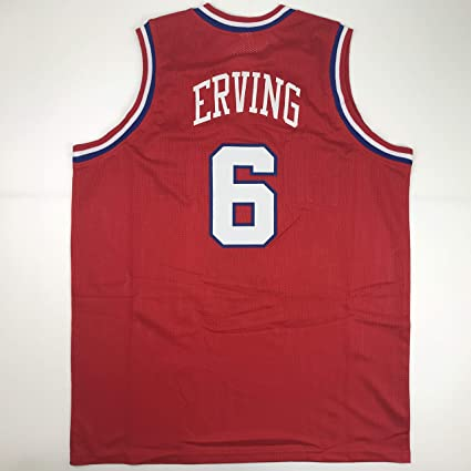7bc87cc9012 Unsigned Julius Dr. J Erving Philadelphia Red Custom Stitched Basketball  Jersey Size Men s XL New