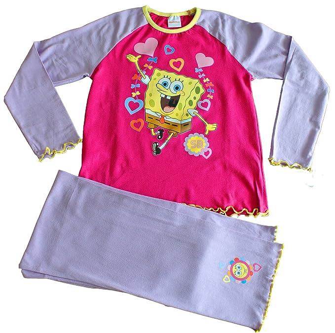 Lovely pantalones de pijama de Bob Esponja y Patricio de estampado a cuadros de ropa de descanso para niñas: Amazon.es: Ropa y accesorios