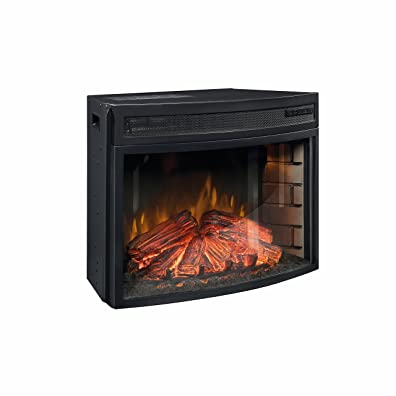 Sauder 418739 Fireplace Insert, Black
