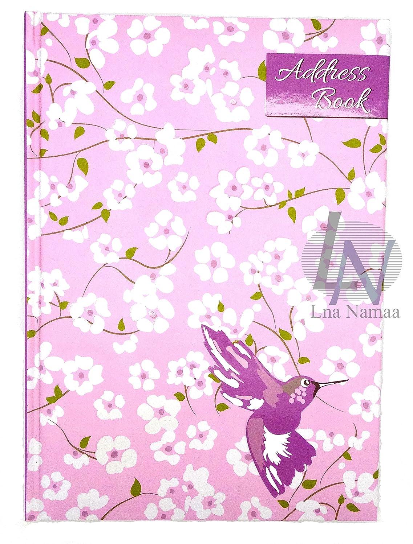 A-Z-Telefon-/Adressbuch, A5, gebunden, Chic, Blumen-Design LN