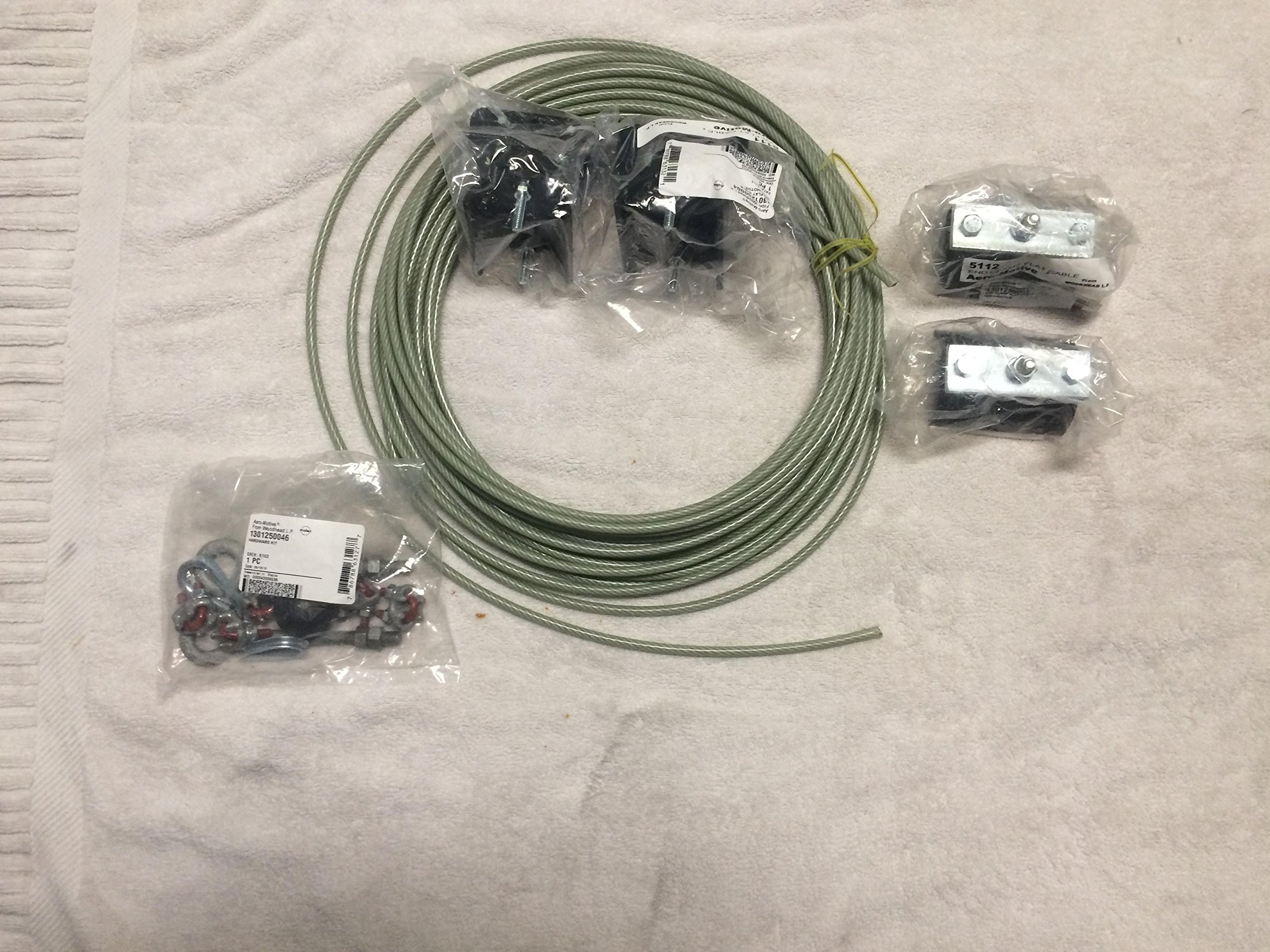 Aero-Motive Festoon System Series 5100 Stretched Wire Festoon For Flat Electric Cables: 5110-02-025