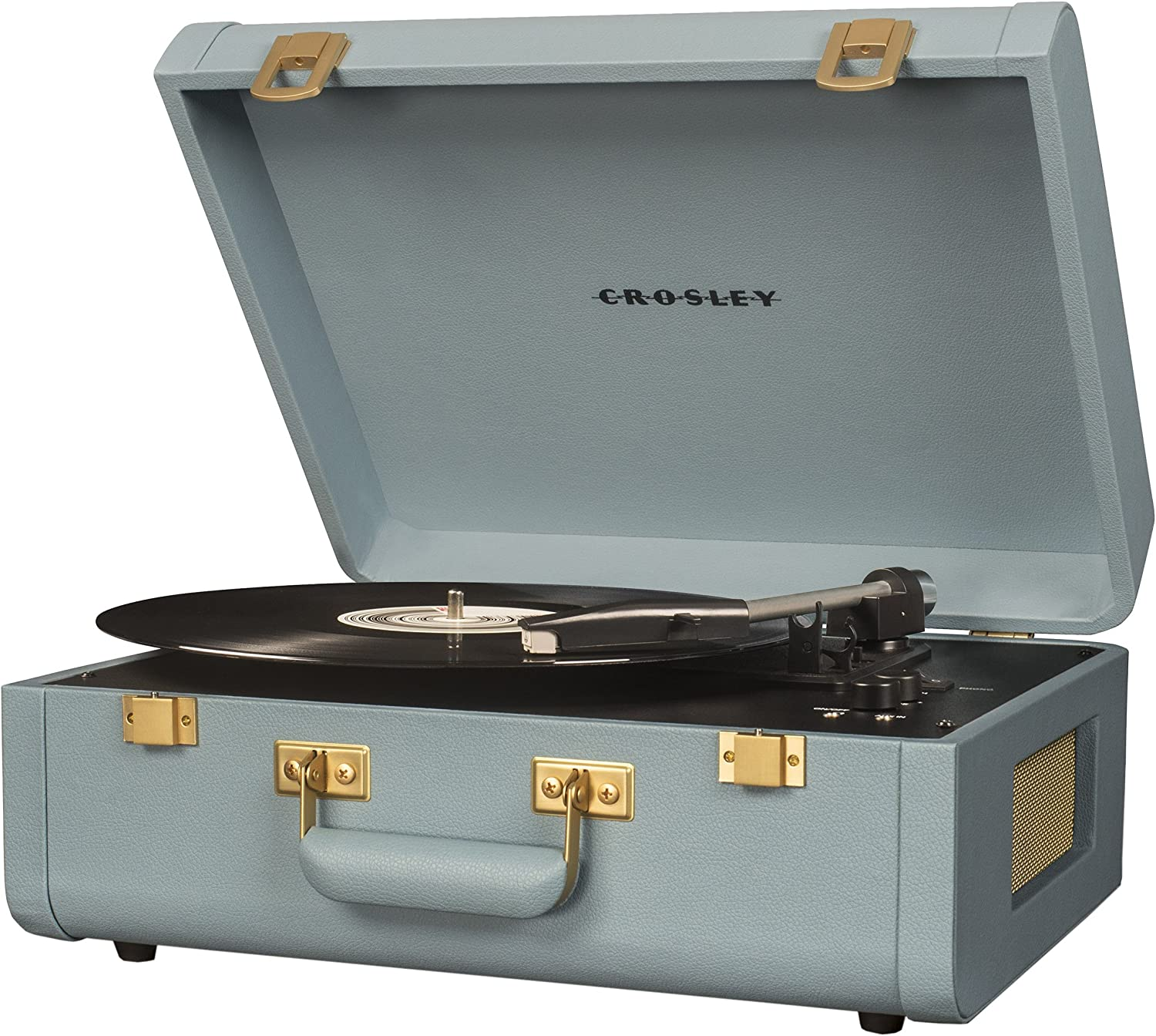 Brown//Black Crosley CR6252A-BR Portfolio Portable Turntable with Bluetooth
