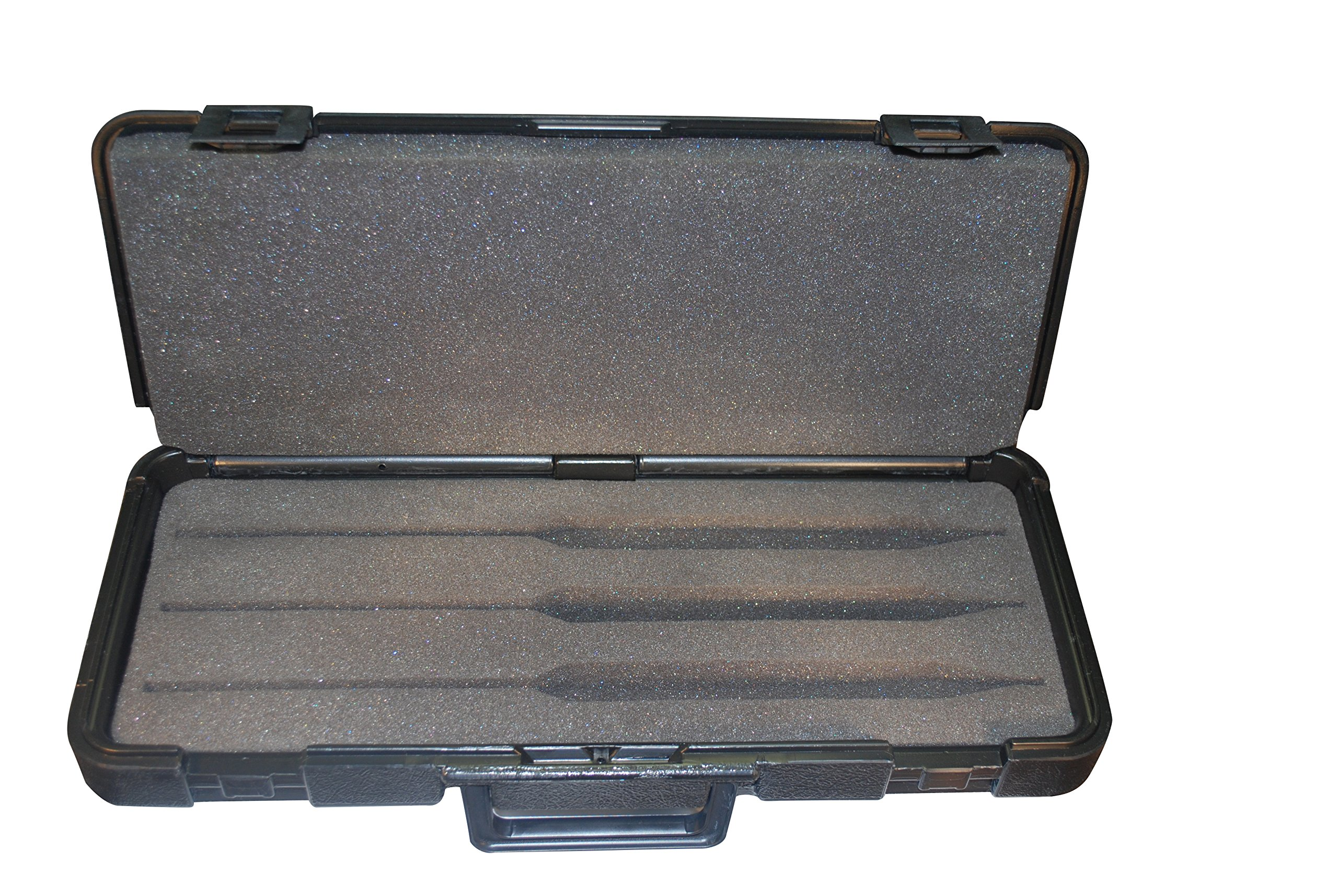 Sturdy plastic case with foam inserts to hold 3 Hydrometers up to 15'' length by Hydrometer case