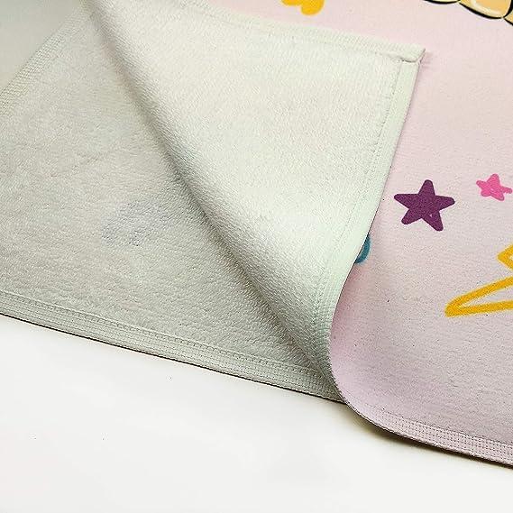 Toalla Personalizada Unicornio Rosa con Nombre. Regalo Original. Recien Nacidos. Tamaño 50x100.: Amazon.es: Hogar