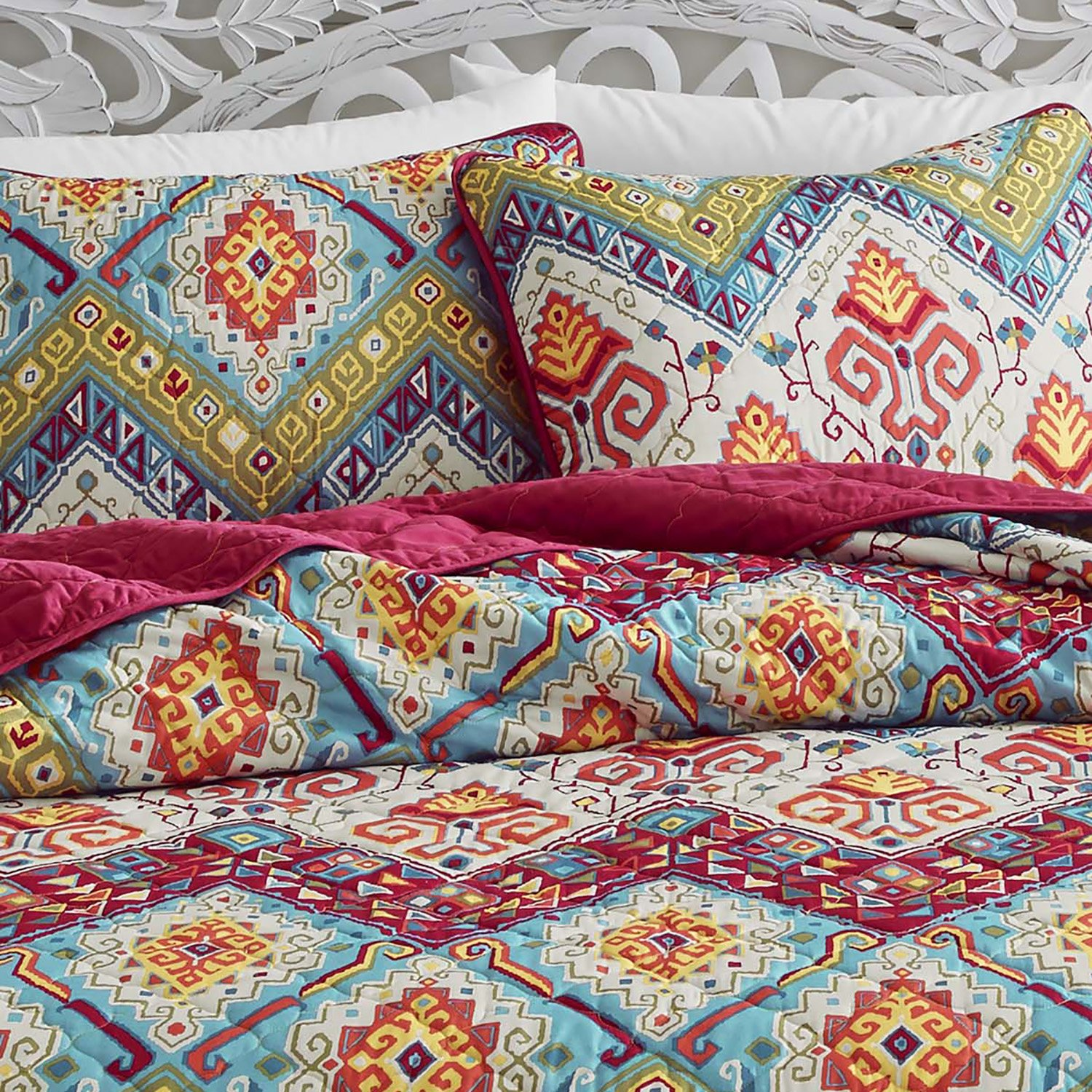 moroccan comforter monika strigel pearls new covers products lifestyle tiles and orange duvet