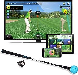 PhiGolf Golf Simulator with Swing Trainer Club