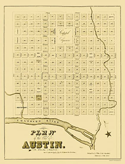 Amazon.com: MAPS OF THE PAST Austin Texas - Pilie 1839-23 x ... on old calgary maps, old orlando maps, old el paso county maps, old michigan maps, old oakland maps, old tallahassee maps, old florida maps, old minnesota maps, old bowling green maps, old tinley park maps, old pensacola maps, old green bay maps, old stockton maps, old raleigh maps, old tobin maps, old ohio maps, old texas maps, old honolulu maps, old annapolis maps, old chico maps,