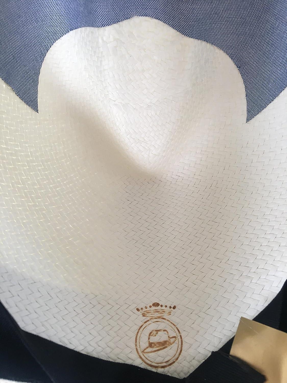 La Marqueza Hats New Whitened FINO Genuine Panama Hat Rollable//Foldable Classic Mens Women Fedora Ecuador Hand Woven Straw