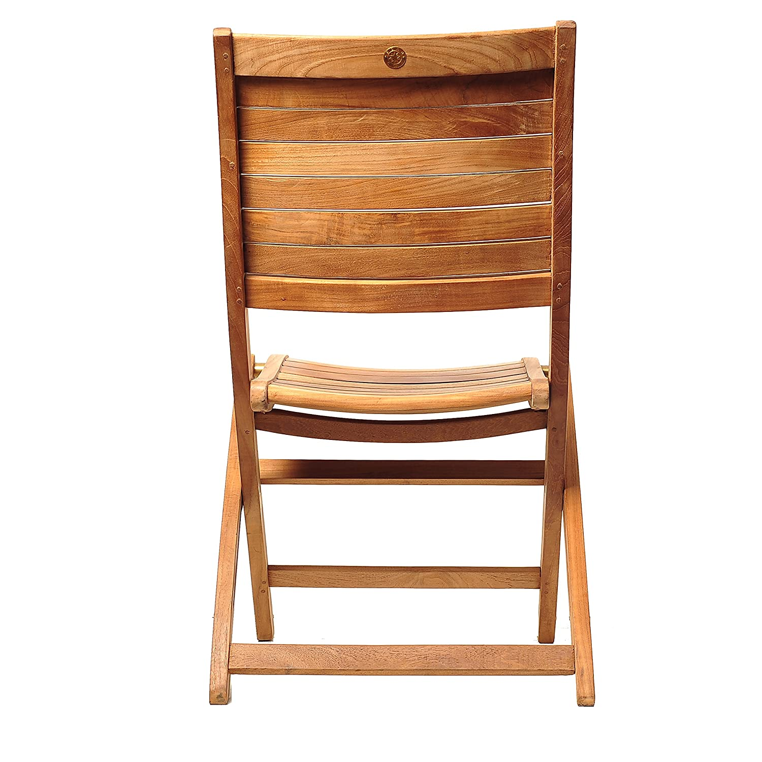 Amazon Amazonia Teak Dublin 2 Piece Teak Folding Chairs