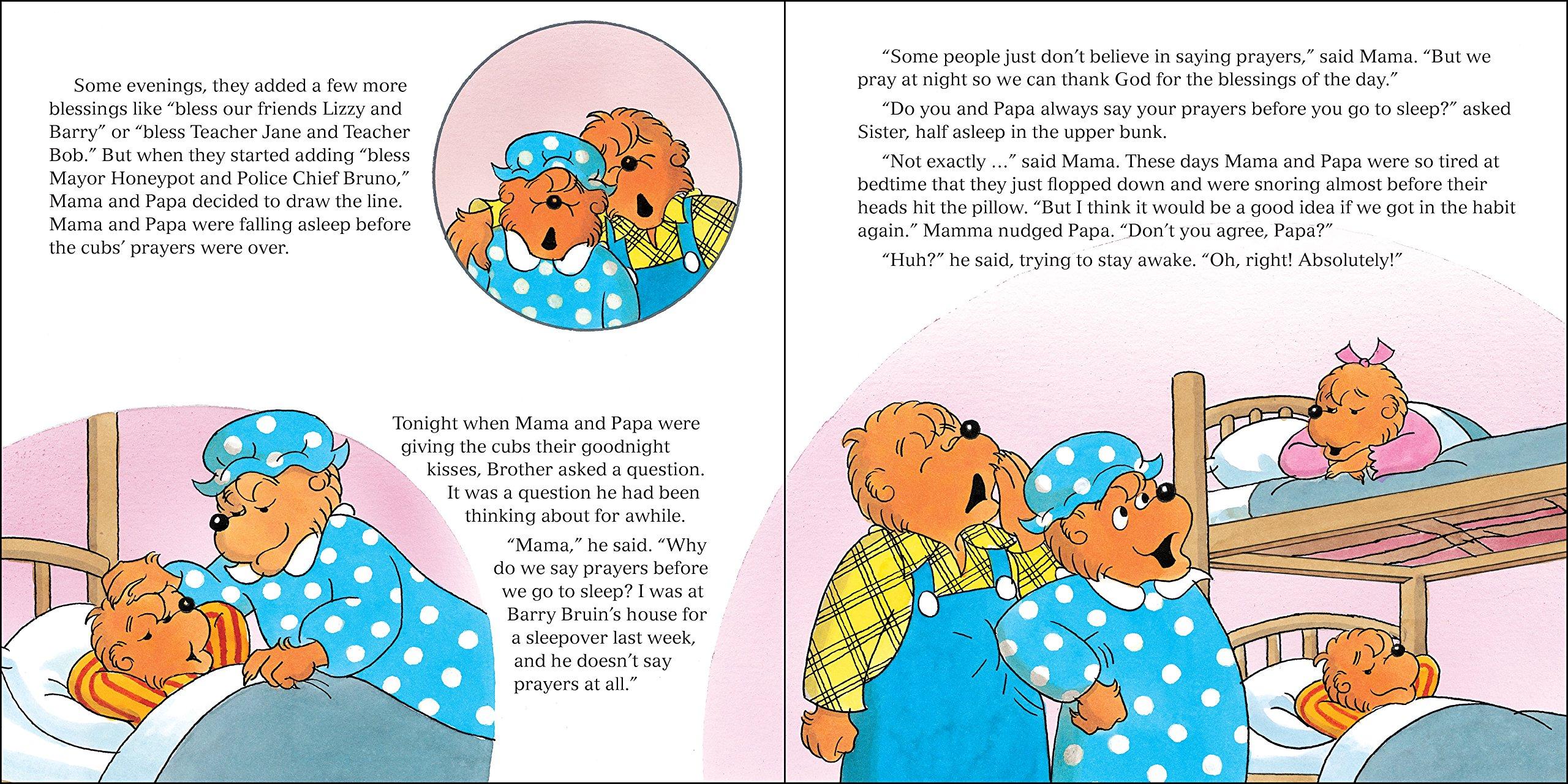 amazon com the berenstain bears say their prayers berenstain