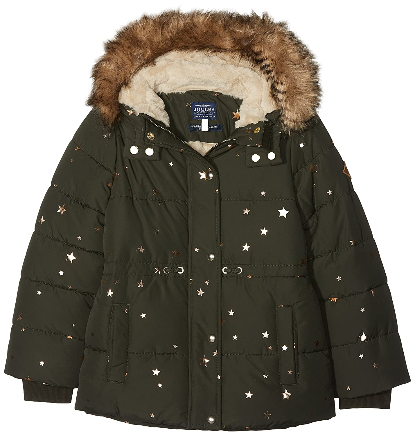 Bleu (Night Sky Star) 7- 8 ans Joules Stella Manteau Fille