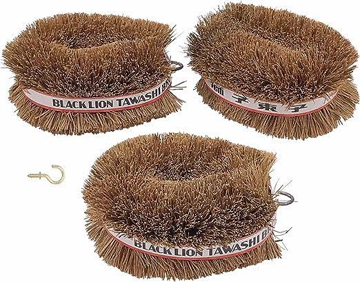 Set of 2 Black Lion Tawashi Vegetable Cleaning Scrubbing Brush Made in Japan