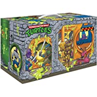 PlayMates Teenage Mutant Ninja Turtles: Retro Rotocast Sewer Lair 6-Piece Action Figure Set, Multicolor