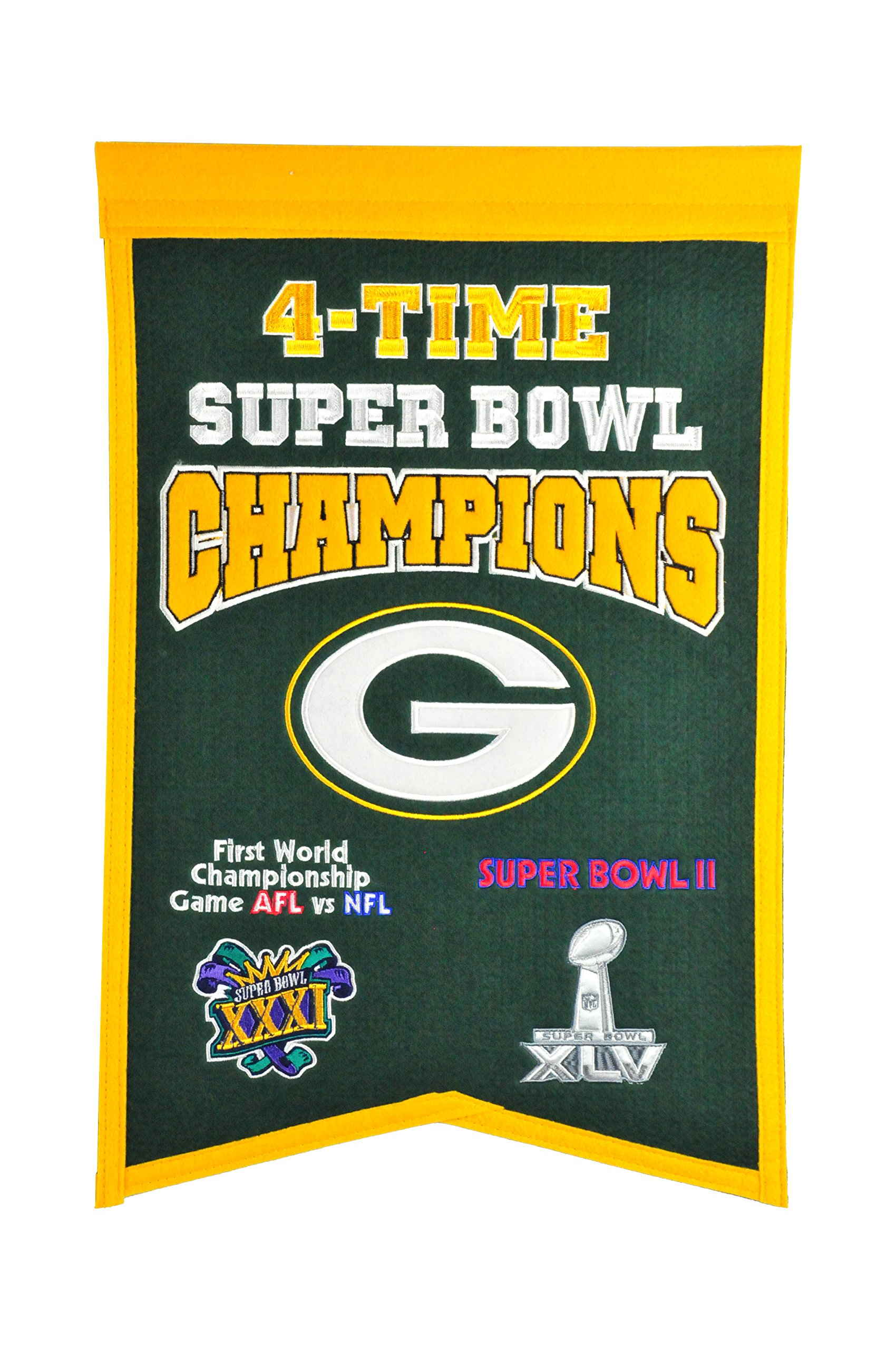 NFL Green Bay Packers Super Bowl Champions Banner by Winning Streak