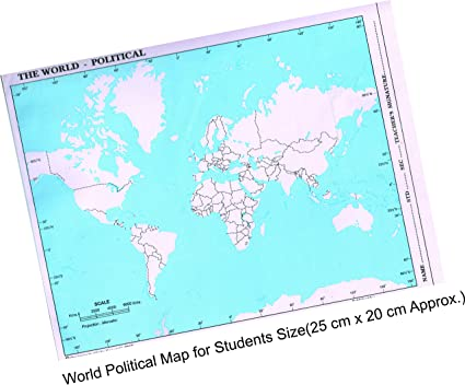 Imprint the world political practice map a4 size set of 100 imprint the world political practice map a4 size set of 100 gumiabroncs Choice Image
