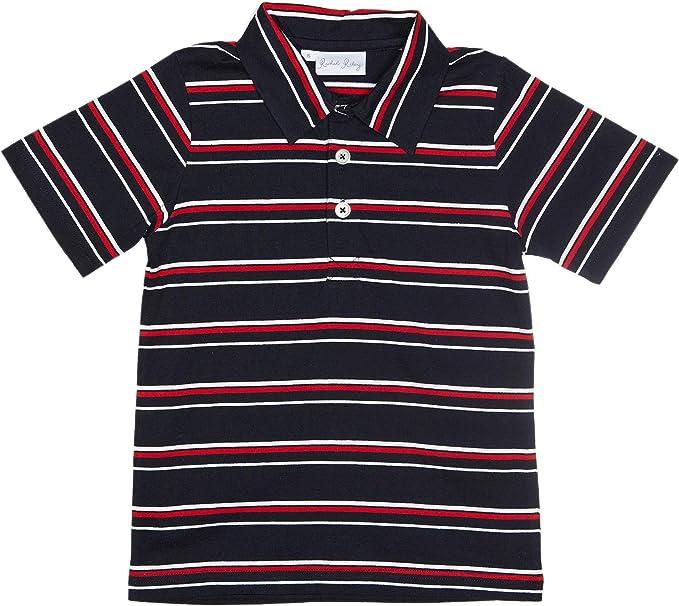 Rachel Riley - Camiseta a Rayas con Cuello de Polo para niño ...