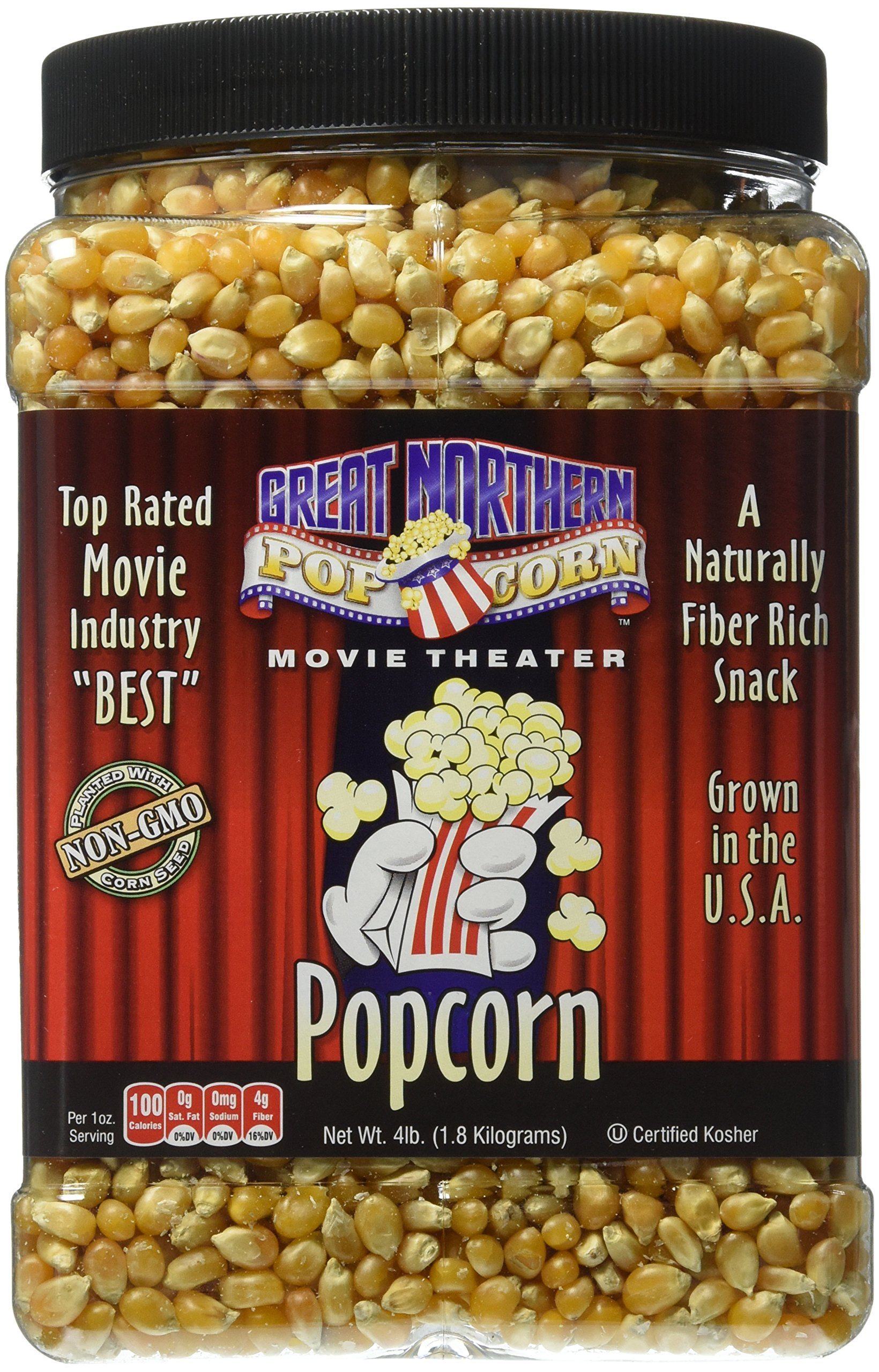 Great Northern Popcorn Premium Yellow Gourmet Popcorn, 4 Pound Jug by Great Northern Popcorn Company