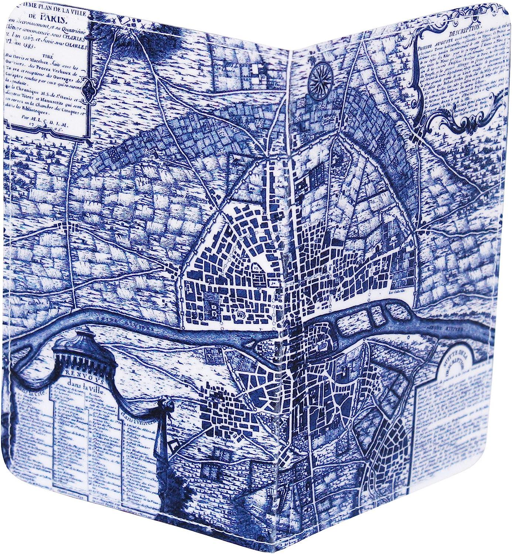 Map of Paris Gift Card Holder /& Wallet