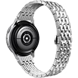Wearlizer Metal Jewelry Compatible with Galaxy Samsung Watch 42mm Band, Active 40mm, Active 2 40mm/44mm, Gear 2 Classic…