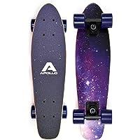 Apollo Fancy Board - Vintage Cruiser, Board Complet | Taille: 22.5'' (57,15 cm) | Skateboard: Petit et maniable| Différentes Couleurs