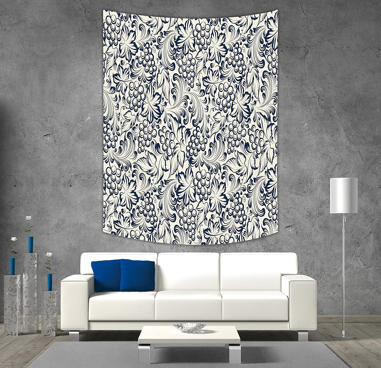 iPrintポリエステルタペストリー壁吊り、エスニック、陰陽シンボル曼荼羅ヒッピーアジアデザインwith Floral Swirlフレームイメージ装飾、パープル、ライトブルー、壁の装飾のベッドルームリビングルーム寮 40W x 60L Inch FSDLGT_19593_K102xG153 40W x 60L Inch A09 B07DJT72C6