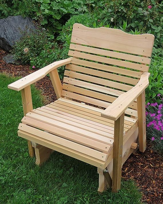Amazon.com: 2 Natural Cedar Porche planeador, Amish Crafted ...