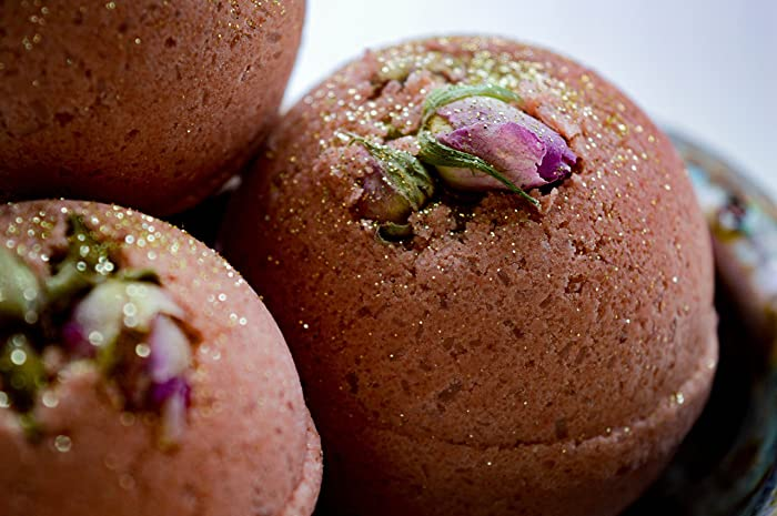 Amazon.com: Rose Gold Bath Bomb - 100% Organic and Handcrafted ...