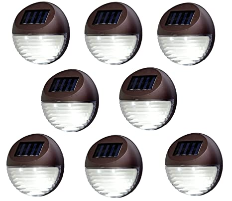 Bear Motion (TM Solar Powered LED Light for Garden, Fence, Walkways  Stairways, Path Pathway Lights - 8 Packs