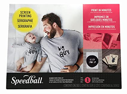 79debf278 Amazon.com: Speedball Paper Stencil Beginner Screen Printing Kit