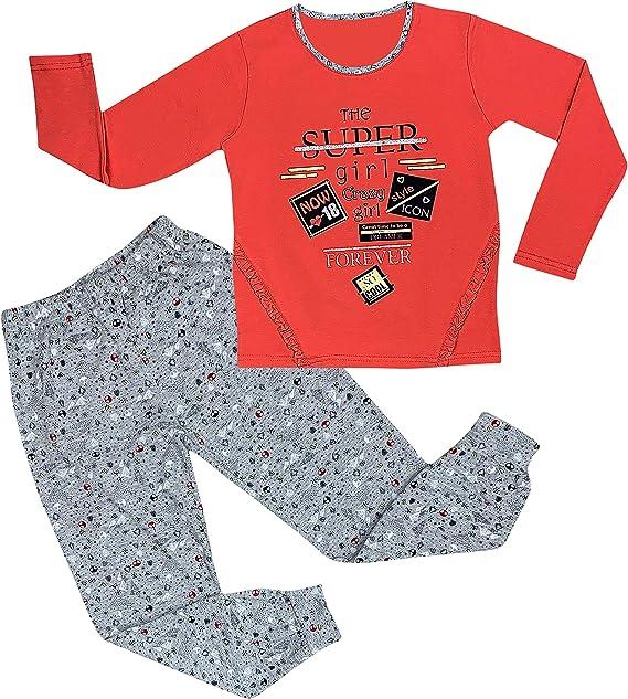 Pijama para niña, con purpurina, pijama de casa, manga larga, algodón: Amazon.es: Ropa y accesorios