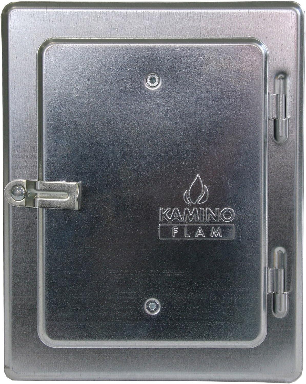 Kamino-Flam 331530 Puerta Revisión de Chimenea, Metal, Plata, 28x23x7 cm