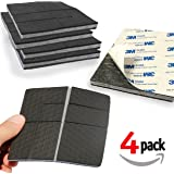 """""""SlipToGrip"""" NON SLIP Furniture Pad Grippers with Adhesive Side (4 Pack) - Stops Slide - Multi Size - Make 4"""" , 1"""", 2"""", etc.- Pre-Scored Multiple Sizes - 3/8"""" Felt Core - Never Marks. Patent Pending"""