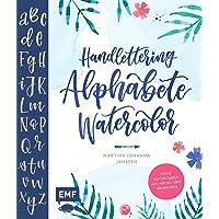 Handlettering Alphabete WaterColor Feine Buchstaben mit Pinsel und Brush Pen