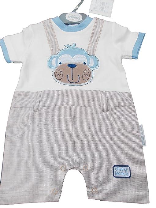 BNWT ropa de bebé Niños de mono Verano Mono Todo En Uno Traje NB 03 3