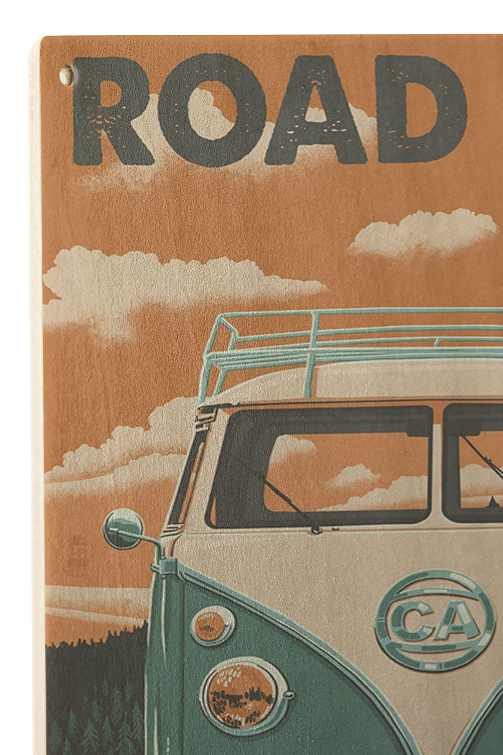 Amazon.com - Sonora, California - Road Trip VW Van (10x15 Wood Wall Sign, Wall Decor Ready to Hang) -