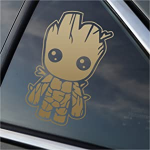 Stick'emAll Baby Groot - Metallic Gold Vinyl Decal