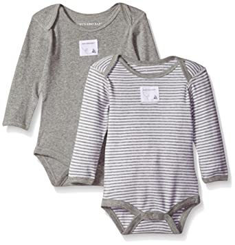 Amazon Com Burt S Bees Baby Set Of 2 Bee Essentials Long Sleeve