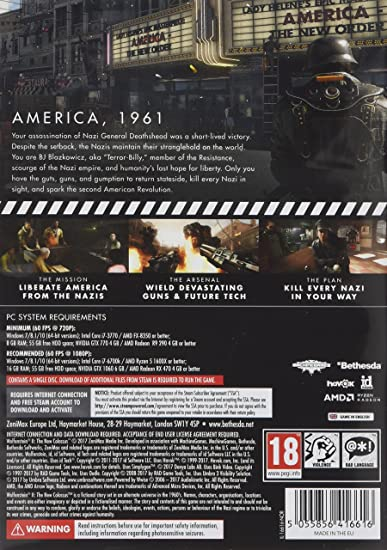 Wolfenstein 2: The New Colossus (PC DVD): Amazon co uk: PC & Video Games