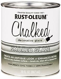 Rust-Oleum 315883 Chalked Decorative Glaze, 30oz, Semi-Transparent Smoked
