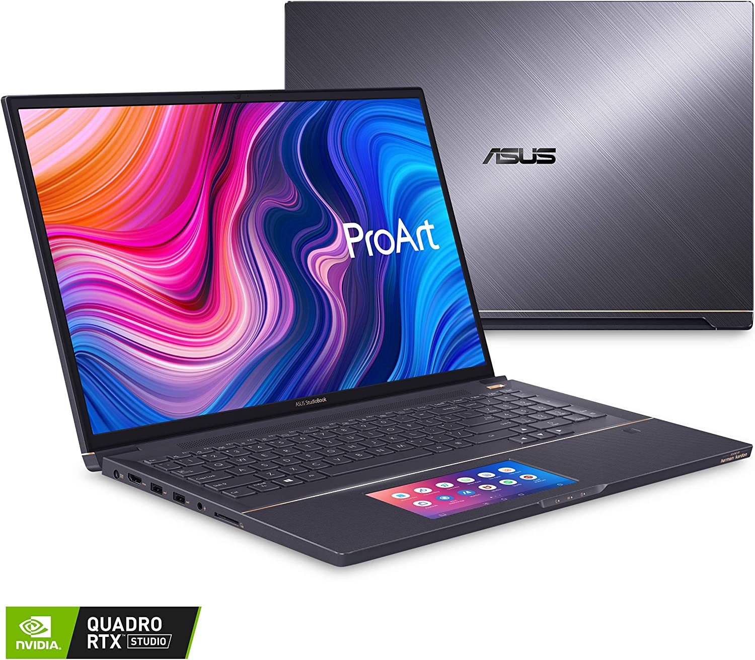 "ASUS ProArt StudioBook Pro X Mobile Workstation Laptop, 17"" FHD Narrow Bezel, Intel Xeon E-2276M, 64GB ECC DDR4, 4TB PCIe SSD, Nvidia Quadro RTX 5000, Windows 10 Pro, W730G5T-XH99, Star Grey"