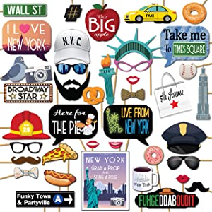 New York City Times Square Party Decoration Photo Booth Props by Outside The Booth