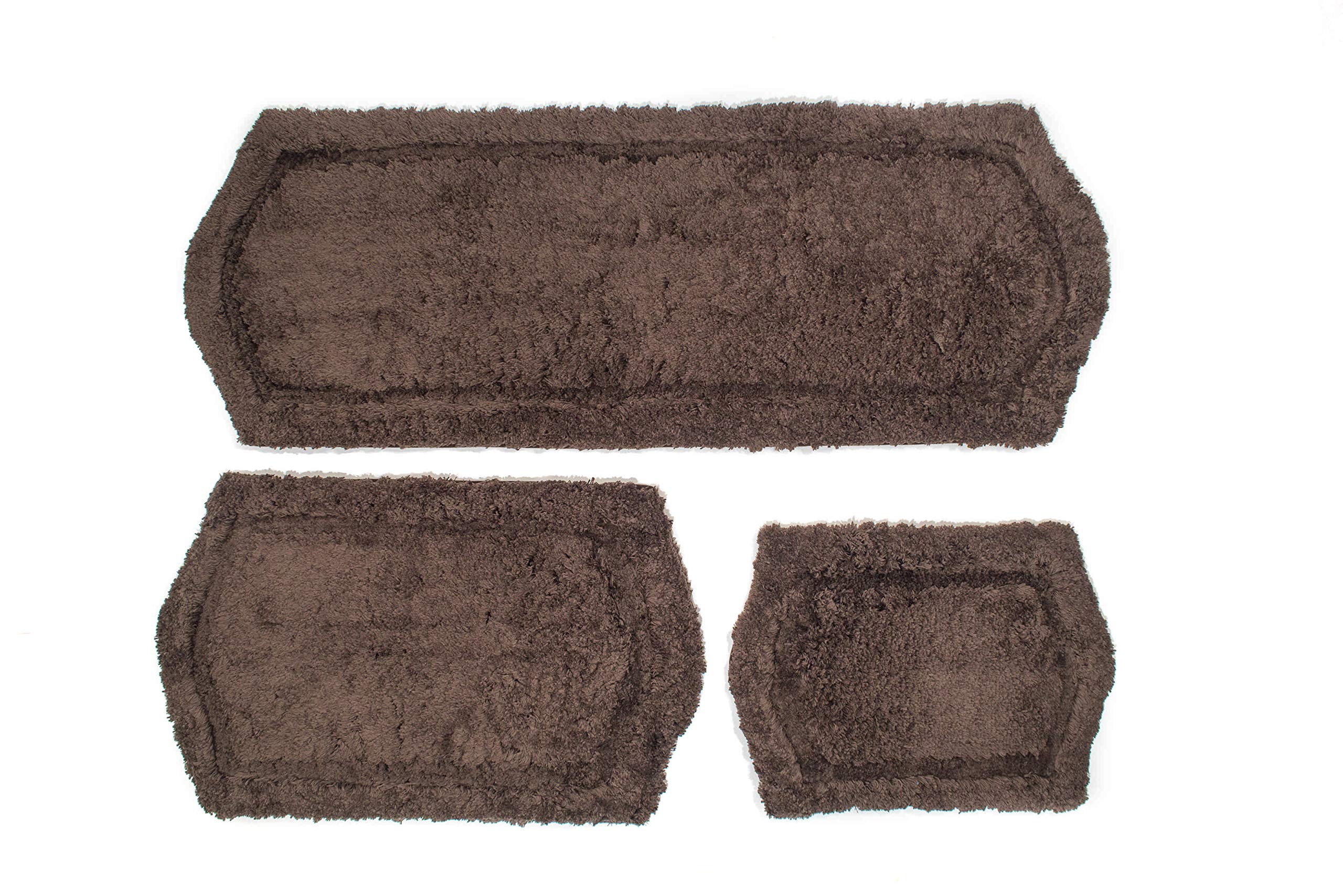 Chesapeake Paradise 3 Pc. Memory Foam Chocolate Bath Rug Set 43263 (22''x60'' & 21''x34'' & 17''x24'')