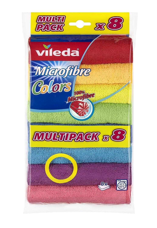 Vileda Colors Panni Microfibre, 80% Poliestere, 20% Poliammide, 4x18.5x31 cm 150890 stracci; strofinacci