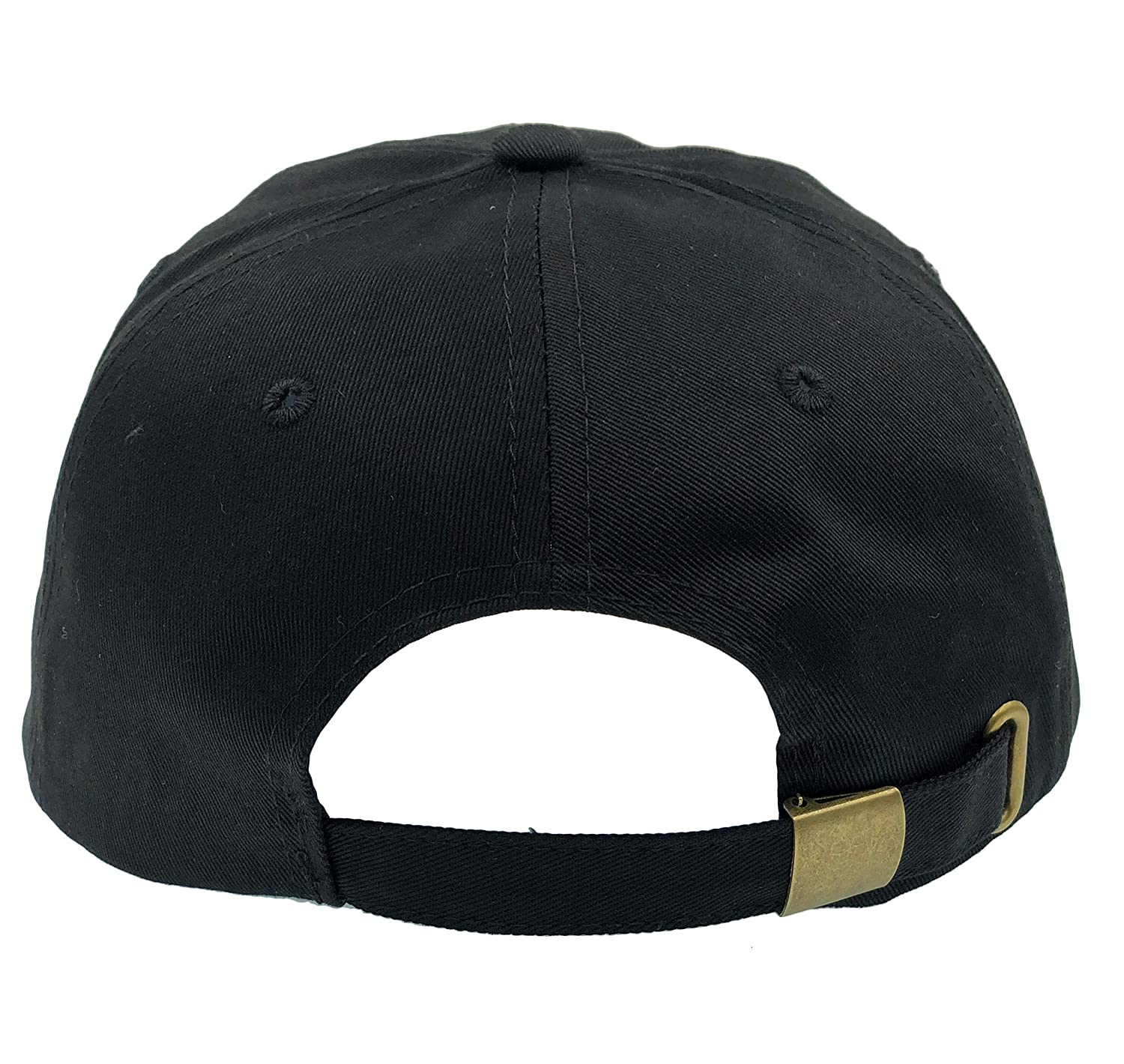 65ab5a81578 CUSTOM Donut Hat Baseball Cap Dad Hats Embroidered Floppy For Men Women  Unstructured (Black) at Amazon Men s Clothing store