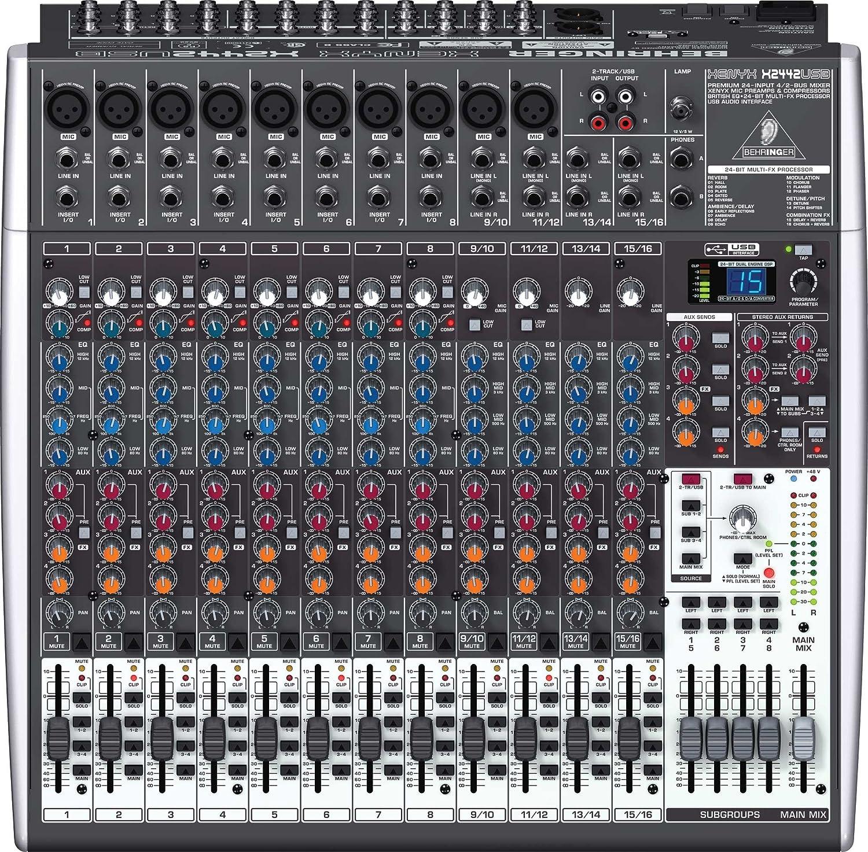 BEHRINGER Mesa de mezclas XENYX X2442USB: Amazon.es: Electrónica